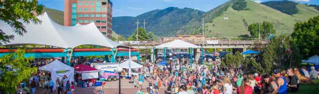 """Caras Park is close to campus. It is home to an """"Out to Lunch"""" celebration every Wednesday. On Saturdays, it hosts a farmer's market."""