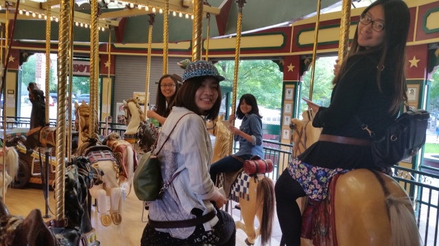 Missoula's carousel in  Caras Park is for children of all ages.