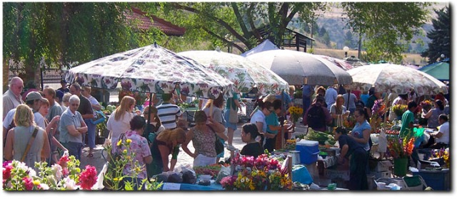 Missoula residents and visitors enjoy the city's Farmers Market every Saturday.